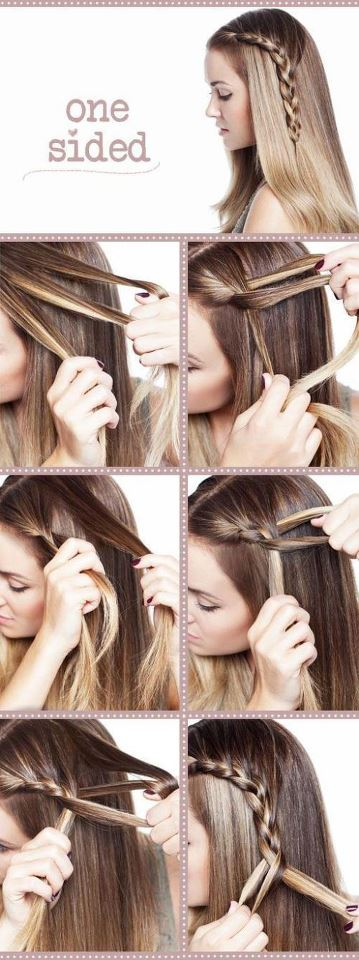 how to make a one sided braid