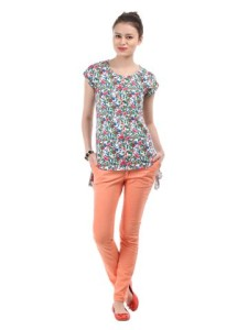 floral print with jeans