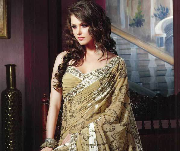 saree according to body type