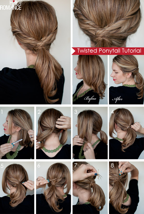 8 Ponytails with a Twist