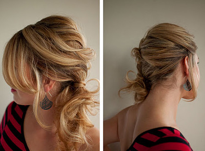 Messy+twist+side+ponytail+hairstyle+collage