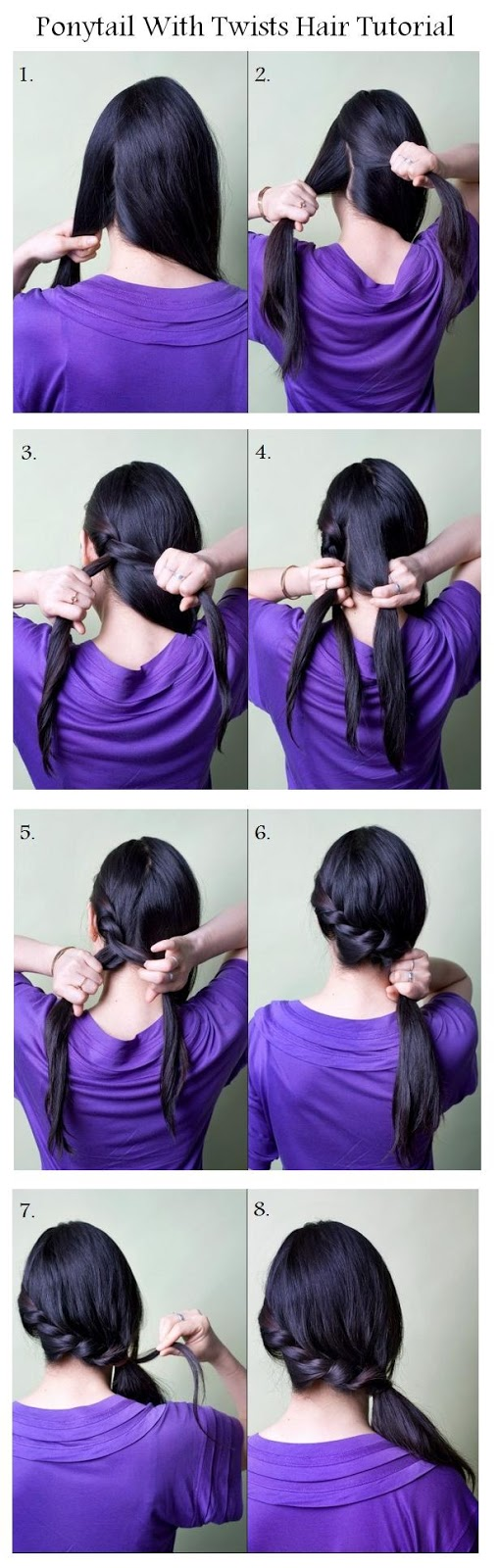 Ponytail With Twists Hair Tutorial