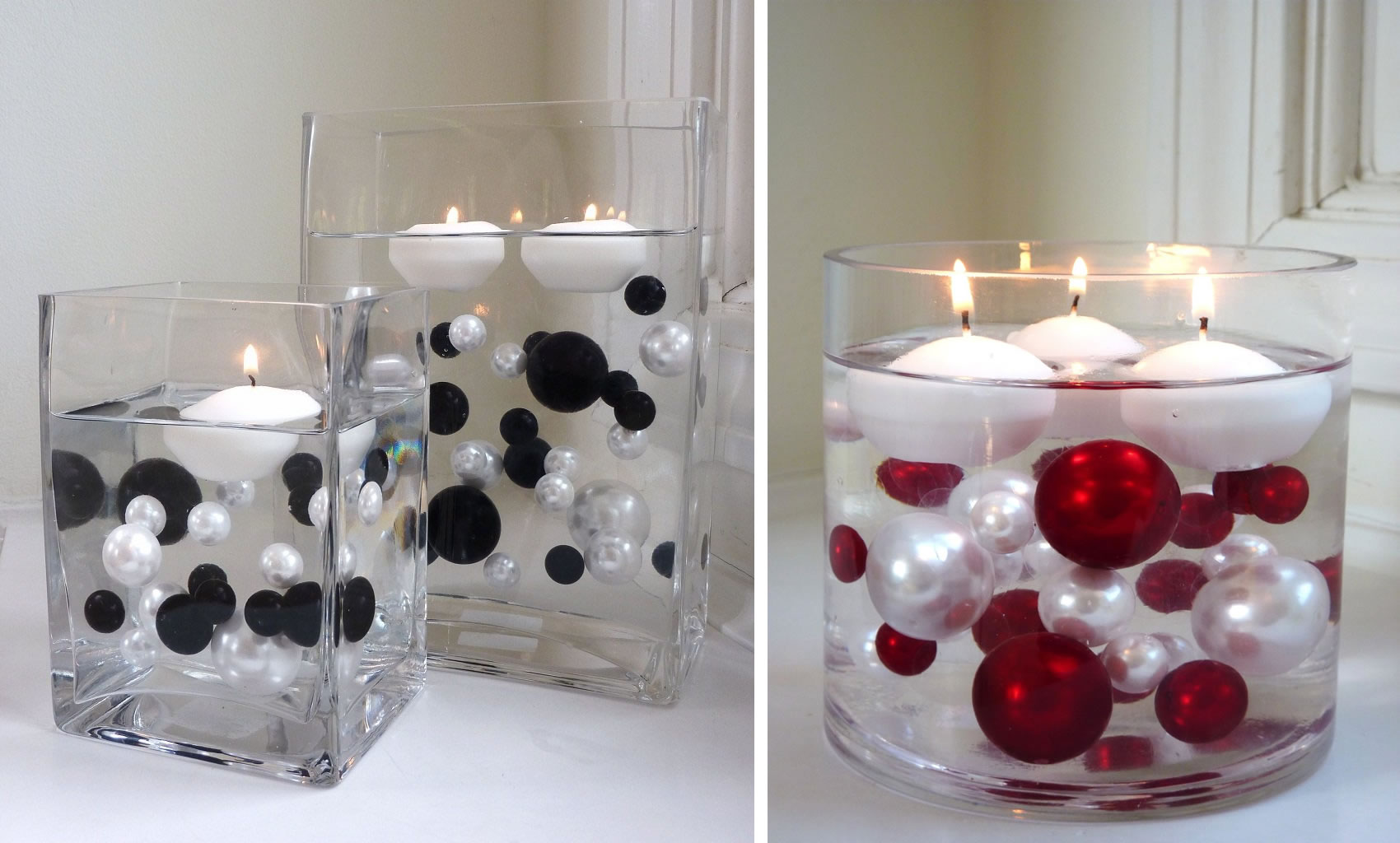 9 diy creative candle decor floating candles in a vase solutioingenieria Choice Image
