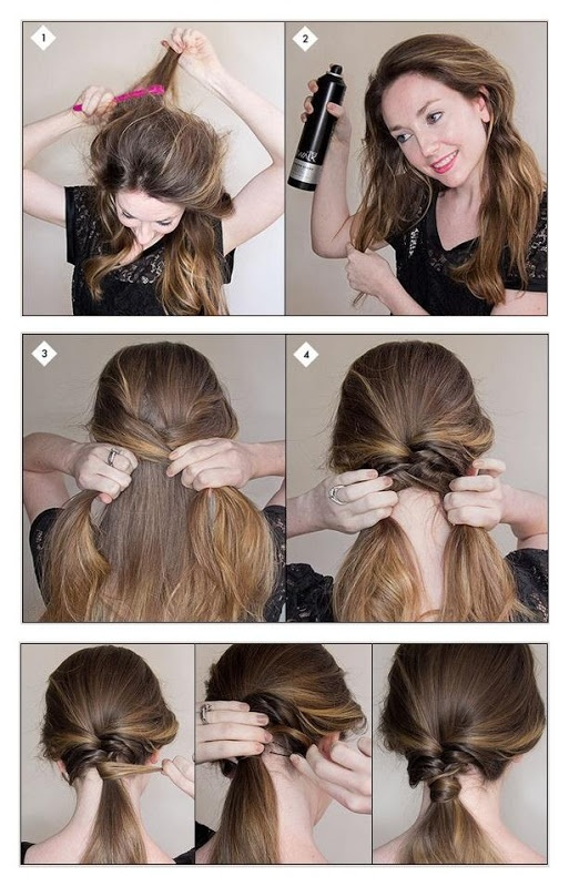 textured ponytail tutorial