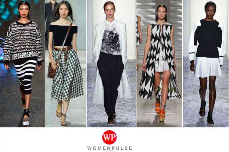 Black and white spring 2015 fashion trends