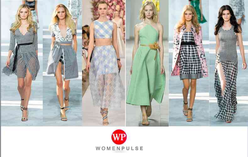 Gingham Prints Sping 2015 Fashion Trends