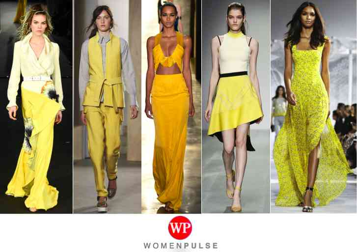 Yellow spring 2015 fashion trends