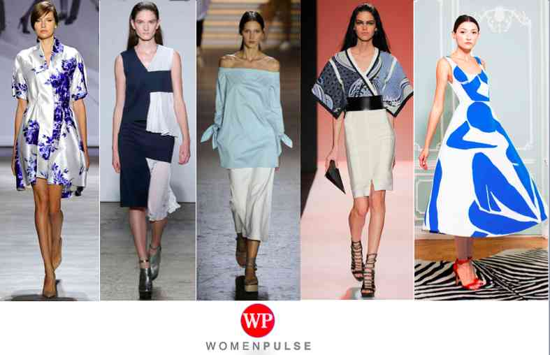 blue and white spring 2015 fashion trends